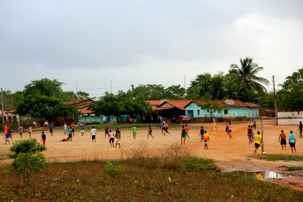 Partida de futebol  no Piauí